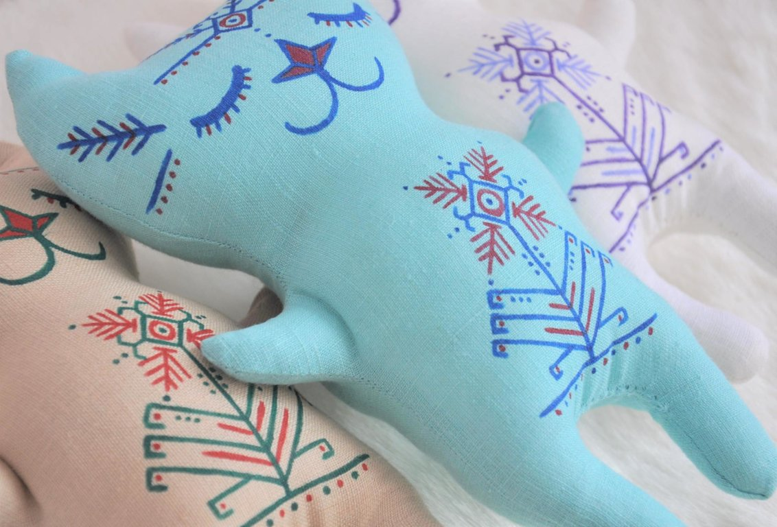 Miera kaķis lielais (gaiši zils)