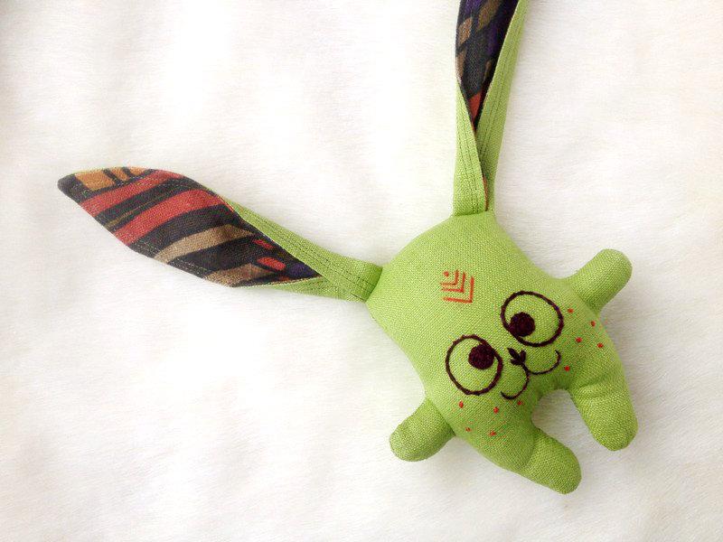 Zaķītis-grabulītis (zaļš)