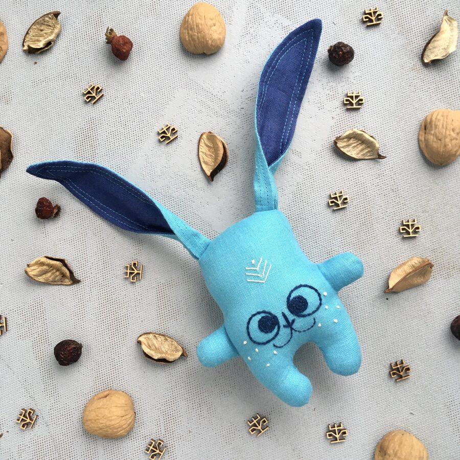 Zaķītis-grabulītis (zils)