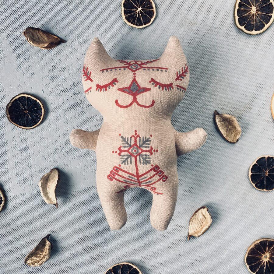 Miera kaķis mazais (dabiska lina krāsa)